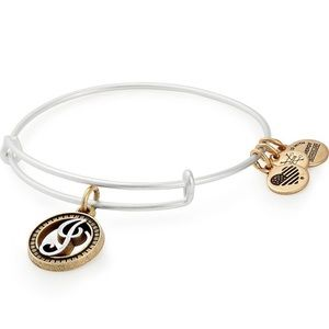 Alex and Ani Gold and Silver J initial Bracelet